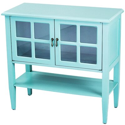Rhinelander 2 Door Accent Cabinet Color: Turquoise