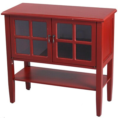 Rhinelander 2 Door Accent Cabinet Color: Red