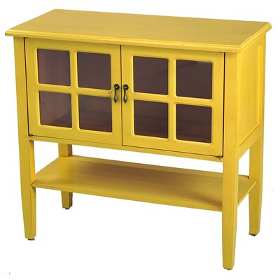 Rhinelander 2 Door Accent Cabinet Color: Yellow