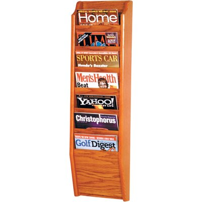 Olsson 7 Pocket Wall Mount Magazine Rack Wood Color: Medium Oak