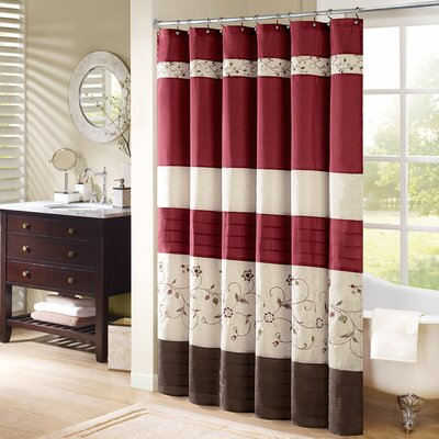 """Willshire Shower Curtain Color: Red, Size: 72"""" H x 72"""" W"""