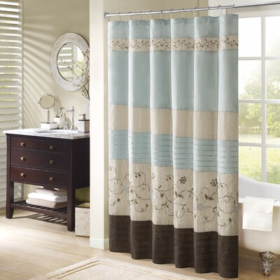 """Willshire Shower Curtain Color: Blue, Size: 72"""" H x 72"""" W"""