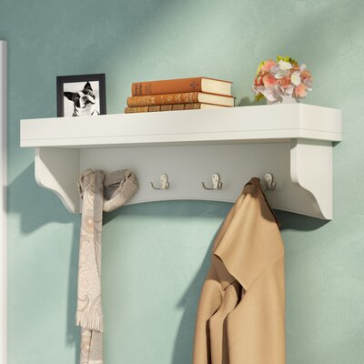 Bel Air Wall Mounted Coat Rack Finish: Ivory