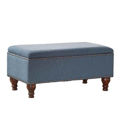 Oakford Upholstered Storage Bench Upholstery: Cerulean Blue