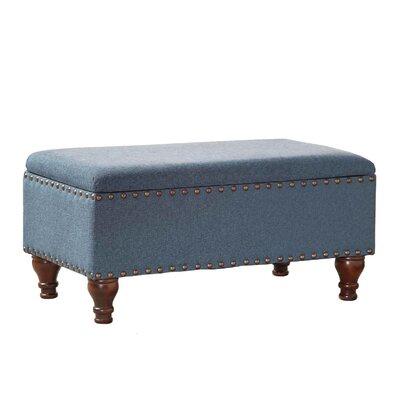 Oakford Upholstered Storage Bench Upholstery: Cerulean Blue