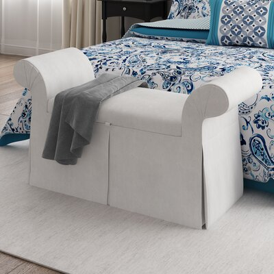 Premier Queen Anne Upholstered Storage Bench Color: White
