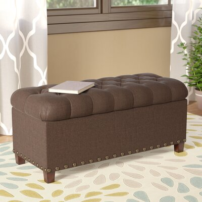 Henderson Upholstered Storage Bench Color: Mocha
