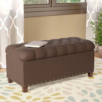 Henderson Upholstered Storage Bench Color: Mocha