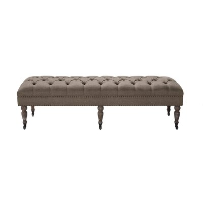 Walkerton Upholstered Bench Upholstery: Brown