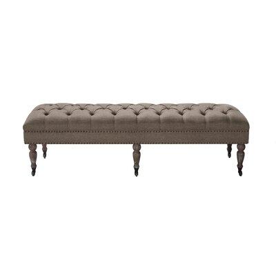 Walkerton Upholstered Bench Upholstery: Brown