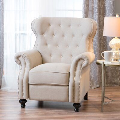 Leverette Recliner Upholstery: Wheat