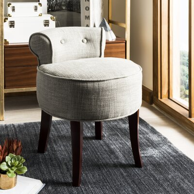 Chloe Vanity Stool Color: Stone