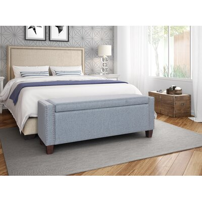 Quinones Upholstered Storage Bench Color: Blue