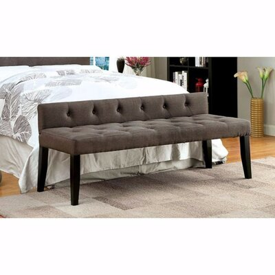 "Cantor Contemporary Wood Bench Size: 26"" H x 64"" W x 21"" D"