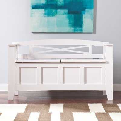 Middlefield Wood Storage Bench Color: White