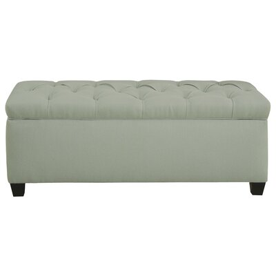 Heaney Diamond Tufted Upholstered Storage Bench Upholstery Color: Light Green