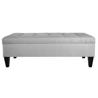 Woodside Upholstered Storage Bench Upholstery: Silver Gray