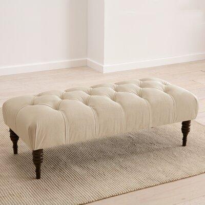 Fitchburg Upholstered Bench Upholstery: Velvet Pearl