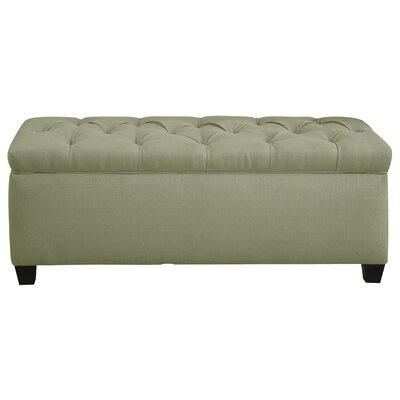 Erik Wood Storage Bench Upholstery: Light Green