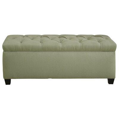 Erik Wood Storage Bench Upholstery: Light Green