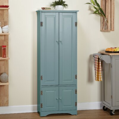 Vivian 4 Door Accent Cabinet Color: Antique Blue