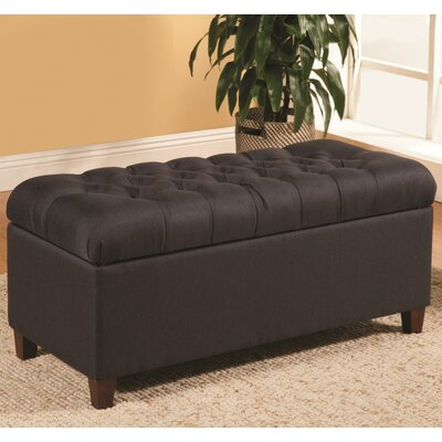 Kenyon Functionally Stylish Upholstered Storage Bench Upholstery: Navy Blue