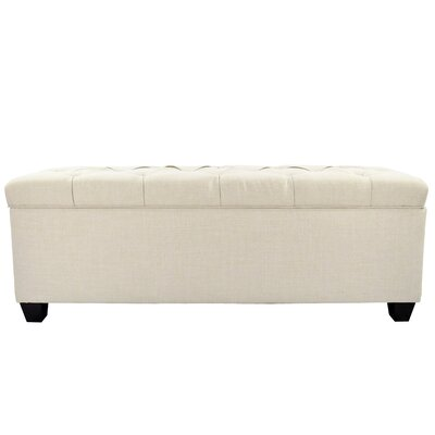 Heaney Diamond Tufted Upholstered Storage Bench Upholstery Color: Beige