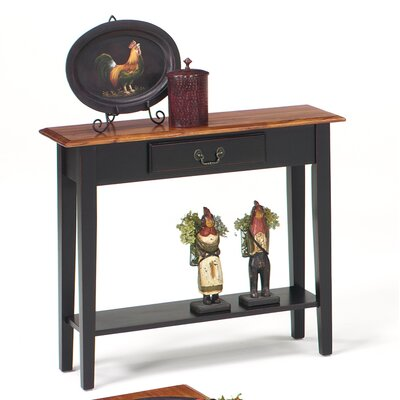 Revere Traditional Console Table Color: Brown Cherry / Black