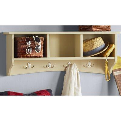 Bel Air 8 Hook Storage Shelf Color: Sand