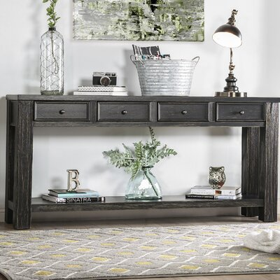 Janousek Console Table Color: Antique Black