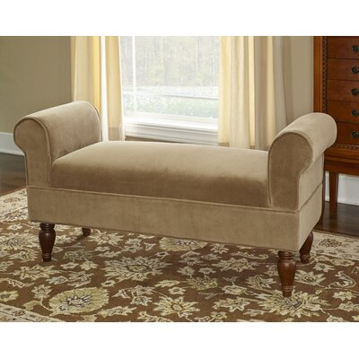 Carreras Upholstered Bench Upholstery: Coffee
