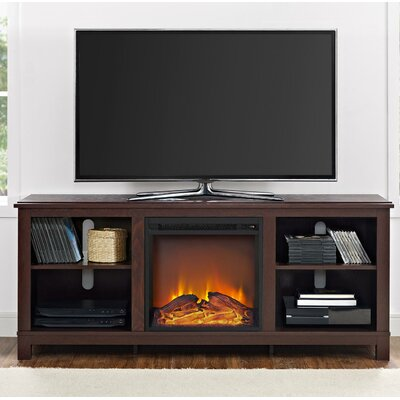 """Gaither 58"""" TV Stand with Fireplace Finish: Cherry Espresso"""