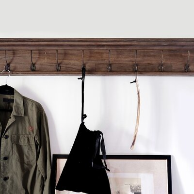 Legrand Wall Mounted Coat Rack Number of Hooks: 8