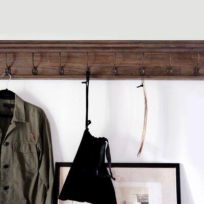 Legrand Wall Mounted Coat Rack Number of Hooks: 8