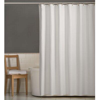 Rawles Microfiber Fabric Shower Curtain Color: White