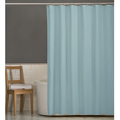 Rawles Microfiber Fabric Shower Curtain Color: Blue