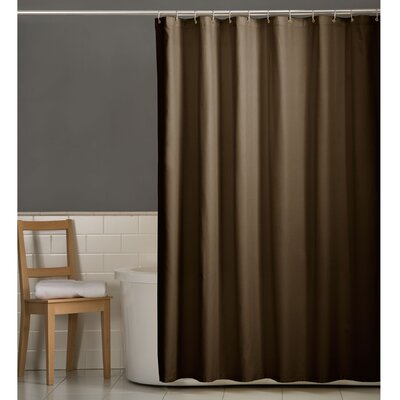 Rawles Microfiber Fabric Shower Curtain Color: Chocolate