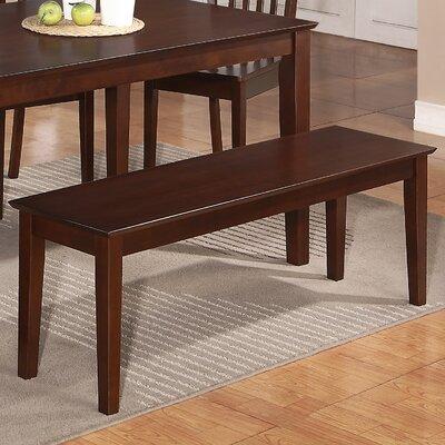 Smyrna Wood Bench Color: Mahogany