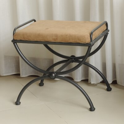 Blomberg Contemporary Iron Vanity Stool Color: Saddle Brown