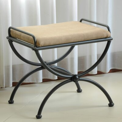 Blomberg Contemporary Iron Vanity Stool Color: Java