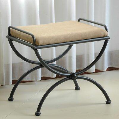 Blomberg Contemporary Iron Vanity Stool Color: Java