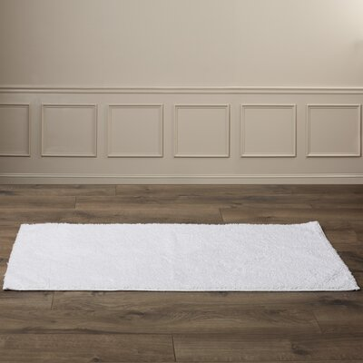 "Roanoke Bath Rug Size: Runner 22"" x 60"", Color: Whites"