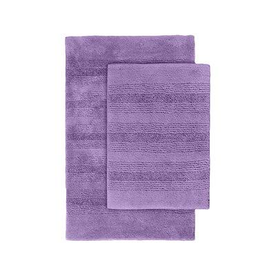 Herleston 2 Piece Bath Rug Set Color: Purple