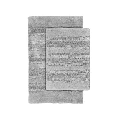 Herleston 2 Piece Bath Rug Set Color: Platinum Gray