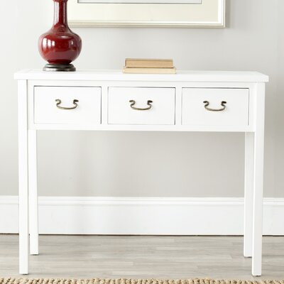 Robinwood Console Table Color: White