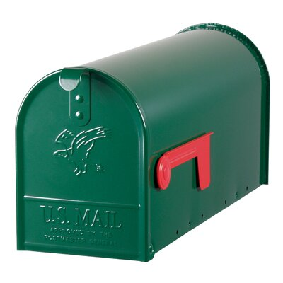 York Place Post Mounted Mailbox Color: Green