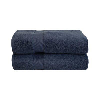 Zero Twist Bath 100% Cotton Bath Towel Color: Midnight
