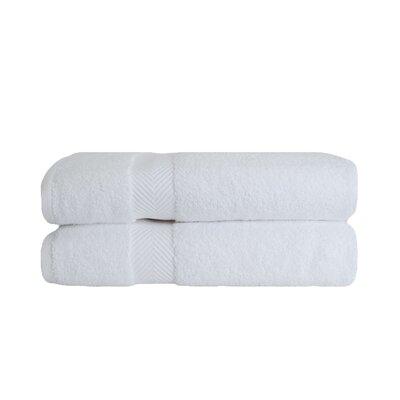 Zero Twist Bath 100% Cotton Bath Towel Color: White