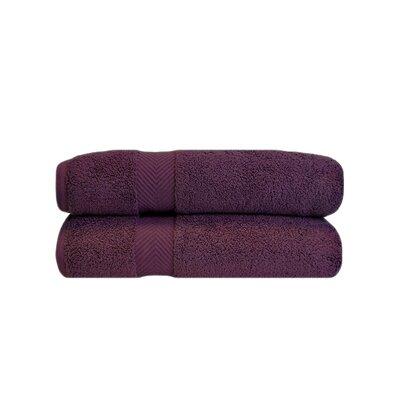 Zero Twist Bath 100% Cotton Bath Towel Color: Grape Seed