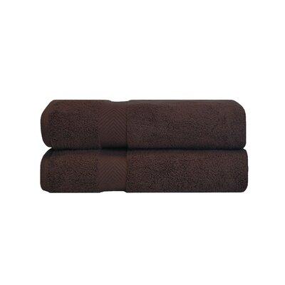 Zero Twist Bath 100% Cotton Bath Towel Color: Espresso